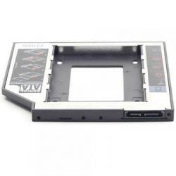 """Карман для ноутбука под 2.5"""" SSD/Sata винт (вместо привода) 12.00мм, Gembird MF-95-02"""