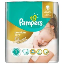 Подгузник Pampers Premium Care New Born (2-5 кг) 22 шт (4015400687696)