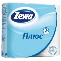 Туалетная бумага Zewa Plus 2-слойная Белая 4 шт (4605331003308)