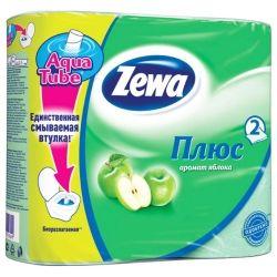 Туалетная бумага Zewa Plus 2-слойная Яблоко Зеленая 4 шт (4605331019309)