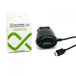 Зарядное устройство Optima Micro USB 1000mAh (41028)