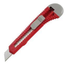 Нож канцелярский Axent 18 мм, blister, gray-red (6502-А)