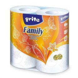 Туалетная бумага Grite Family 3 слоя 4 рулона (4770023482119)