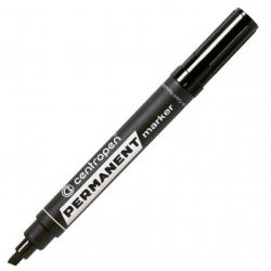 Маркер Centropen Permanent 8576 1-4,6 мм, chisel tip, black (8576/01)