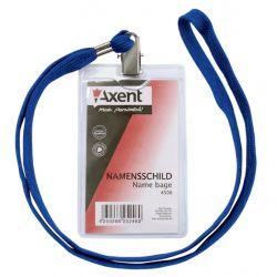 Бейдж Axent vertical 11,7*6,4cm, string, clear (4506-А)