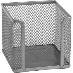 Подставка-куб для писем и бумаг Axent 100х100x100мм, wire mesh, silver (2112-03-A)