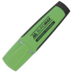 Маркер BUROMAX highlighter pen, chisel tip, green (BM.8900-04)
