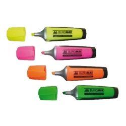 Маркер BUROMAX highlighter pen, chisel tip, SET 4 colors (BM.8900-94)