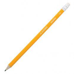 Карандаш графитный Buromax HB, with eraser, yellow, tube, JOBMAX (BM.8500)
