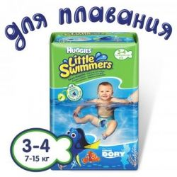 Подгузник Huggies Little Swimmer 3-4 12 шт (36000183399)