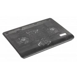 """Подставка под ноутбук Gembird NBS-2F17-01 до 17"""", 2x80 mm fan, black"""