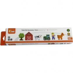 Железная дорога Viga Toys дополнительный набор к ж/д Ферма (50812)