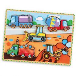 Развивающая игрушка Viga Toys Рамка-вкладыш Спецмашины (56439)