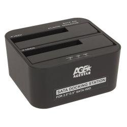 """Док-станция 3,5"""" AgeStar 3UBT6-6G для HDD 3,5"""" черный"""