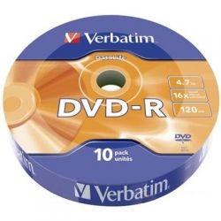 Диск DVD-R 10 Verbatim, 4.7Gb, 16x, Data Life, Wrap (43839)