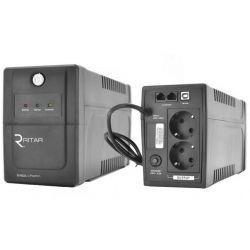 ИБП Ritar RTP600L-U (360W) Proxima-L, LED, AVR, 4st, USB, 2xSCHUKO socket, 1x12V7Ah, plastik Case Q4