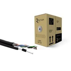 Кабель сетевой Ritar UTP 305м КНПт (4*2*0,50) [СCA] внешний, трос 7*0,4 (3499)
