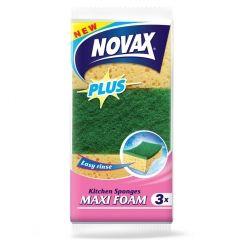 Губки кухонные Novax Maxi Foam Plus 3 шт (4823058320281)