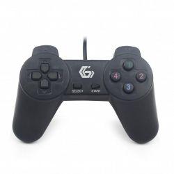 Геймпад Gembird JPD-UB-01, USB інтерфейс, чорний колір