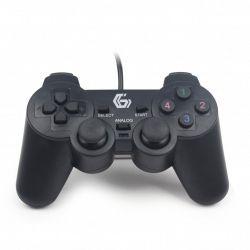 Геймпад Gembird JPD-UDV-01, USB інтерфейс, вібрація, чорний колір