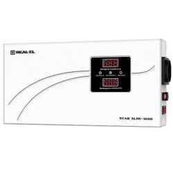 Стабилизатор REAL-EL STAB SLIM-1000, white (EL122400007)