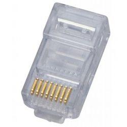 Коннектор неэкранированный RJ45 8P8C 5e категория (упаковка 100 шт) WT-6002A-SOLID