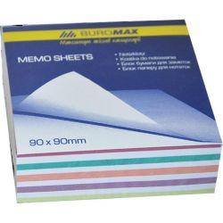Бумага для заметок BUROMAX Zebra JOBMAX 90х90х30мм, unglued (BM.2257)