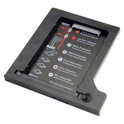 "Шасси Maiwo NSTOR-12-P для подключ. 2,5"" HDD/SSD SATA3 в отсек привода ноутбука толщ. 12,7 мм, пластик."