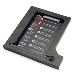 "Шасси Maiwo NSTOR-9-P для подключ. 2,5"" HDD/SSD SATA3 в отсек привода ноутбука толщ.9,5 мм, пластик."
