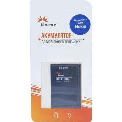 Аккумуляторная батарея Florence Nokia BP-3L 1300mA (BP-3L) (FLBP-3L)