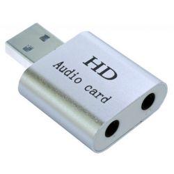 Звуковая карта USB 2.0, 7.1, Dynamode C-Media 108 Silver, 90 дБ, EAX2.0 / A3D1.0, алюминиевый корпус (USB-SOUND7-ALU) (Bulk)
