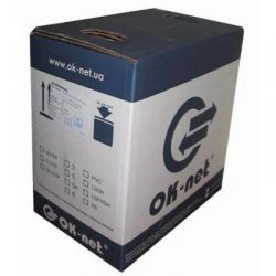 Кабель сетевой OK-Net UTP 500м 4 пары (КПВ-ВП (350) 4х2х0,51)