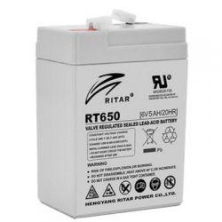 Батарея для ИБП 6В 5.0Ач AGM Ritar RT650 / 6V 5.0Ah / 70х47х107 мм