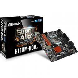 Мат.плата 1151 (H110) AsRock H110M-HDV R3.0, H110, 2xDDR4, Int.Video(CPU), 4xSATA3, 1xPCI-E 16x 3.0, 1xPCI-E 1x 2.0, ALC887, RTL8111C, 4xUSB3.0/6xUSB2.0, VGA/DVI/HDMI, mATX