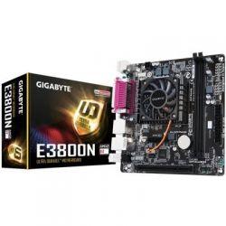 Мат.плата с процессором Gigabyte GA-E3800N, AMD E2-3800 (4x1.3GHz), 2xDDR3, Radeon HD 8280, 2xSATA3, 1xPCI, ALC887, GLan, 2xUSB3.1/8xUSB2.0, VGA/DVI, Mini-ITX