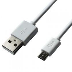 Дата кабель Grand-X USB - Micro USB, Cu, 2.1A, White, 1m (PM01W)