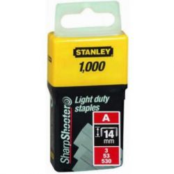 Скобы Stanley Light Duty тип а, 14мм, 1000шт (1-TRA209T)