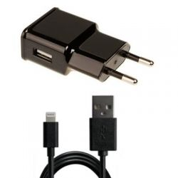 Зарядное устройство Grand-X 1*USB, 1A, Black, + cable USB -> Lightning, Cu, 2.1А, 1m (CH765LTB)