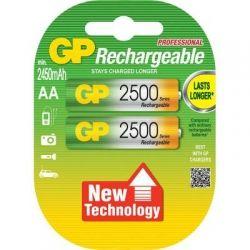 Аккумулятор AA, 2500 mAh, GP, 2 шт, 1.2V, Blister (GP250AAHC-2UEC2)