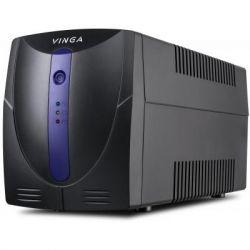Источник бесперебойного питания Vinga LED 600VA plastic case + with USB+RJ45 (VPE-600PU)