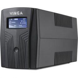 Источник бесперебойного питания Vinga LCD 600VA plastic case with USB+RJ45 (VPC-600PU)