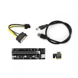 Райзер PCI-E x1 to 16x 60cm USB 3.0 Cable SATA to 6Pin Power v.006C Vinga (PCI-E)
