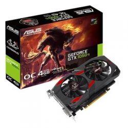 Видеокарта GeForce GTX1050Ti OC, Asus, CERBERUS, 4Gb DDR5, 128-bit, DVI/HDMI/DP, 1480/7008 MHz (CERBERUS-GTX1050TI-O4G)