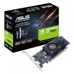 Видеокарта GeForce GT1030, Asus, 2Gb DDR5, 64-bit, DVI/HDMI, 1506/6008MHz, Silent, Low Profile (GT1030-2G-BRK)