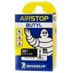 "Велосипедная камера Michelin C2 AIRSTOP 26""х1-1,25 (25/35X559) PR40мм (460871)"