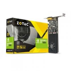 Видеокарта GeForce GT1030, Zotac, 2Gb DDR5, 64-bit, VGA/HDMI, 1468/6000MHz, Low Profile (ZT-P10300E-10L)