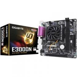 Мат.плата с процессором Gigabyte GA-E3000N, AMD E2-3000 (2x1.65GHz), 2xDDR3, Radeon HD 8280, 2xSATA3, 1xPCI, ALC887, GLan, 2xUSB3.1/8xUSB2.0, VGA/HDMI, Mini-ITX