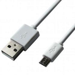 Дата кабель Grand-X USB - Micro USB, Cu, 2.1A, White, 1m (PM01WS)