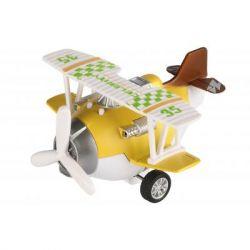 Спецтехника Same Toy Самолет металический инерционный Aircraft желтый со светом и (SY8015Ut-1)