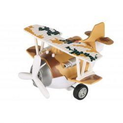 Спецтехника Same Toy Самолет металический инерционный Aircraft коричневый со свет (SY8015Ut-3)